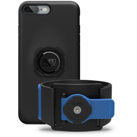 Quad Lock Run Kit iPhone 7/8 PLUS blauw/zwart